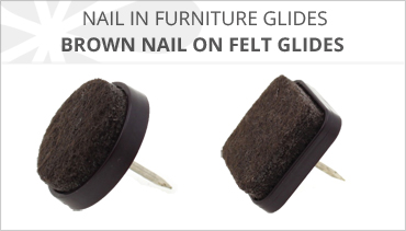 BROWN FELT NAIL IN FURNITURE GLIDES